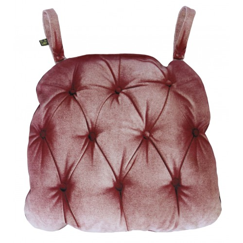 """Coussin de chaise """"Vieux rose"""""""