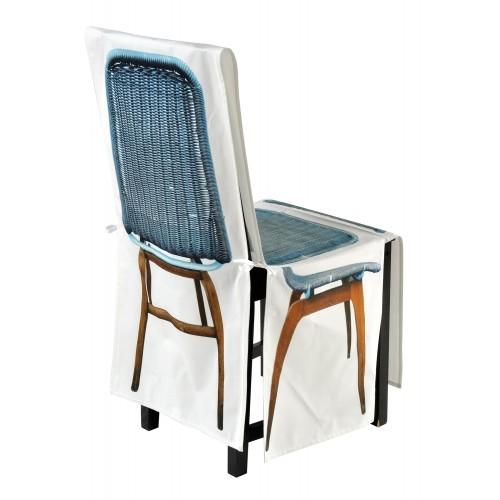 """Housse de chaise """"Tresse bleue"""""""