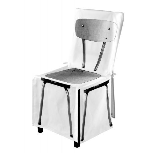 "Chair cover ""Formica noir & blanc"""