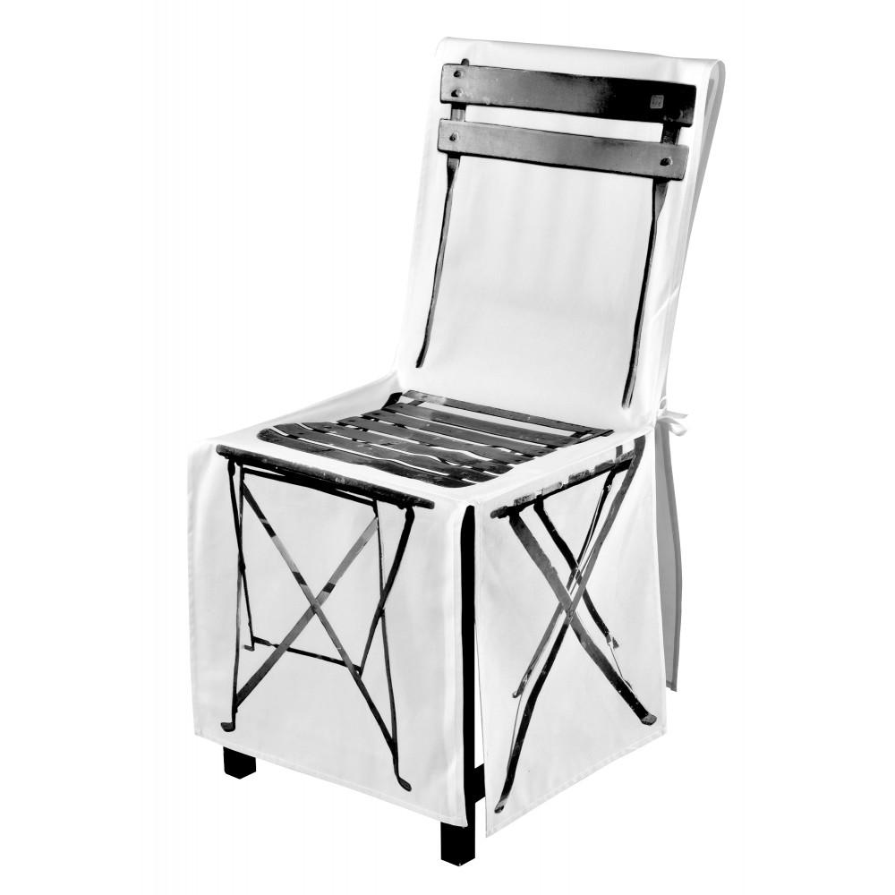Housse de chaise pliante noir blanc for Housse de chaise noir
