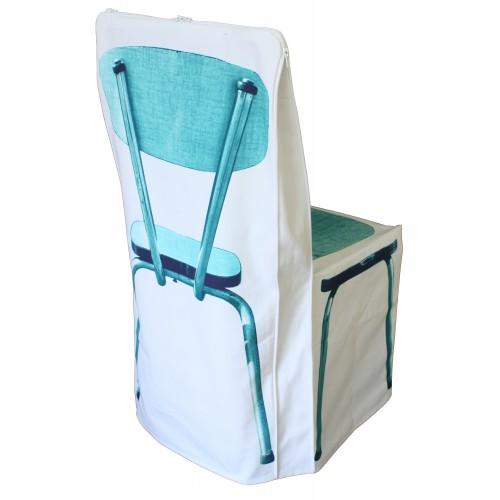 """Chair cover """"zip bleu"""""""