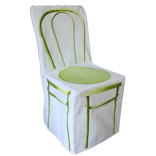 "Housse de chaise ""Zip jaune"""