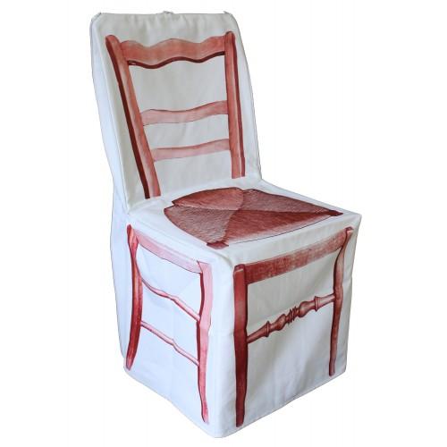 """Housse de chaise """"Zip rouge"""""""