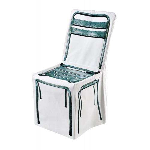 """Housse de chaise """"Zip métal"""""""