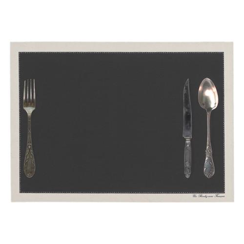 """Set de table """"Couverts"""" anthracite"""