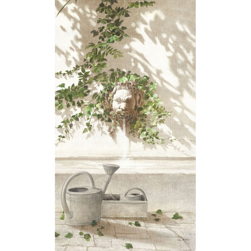 """Tenture murale """"Arrosoir"""""""