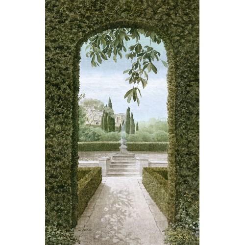 """Tenture murale""""Vue sur le Jardin"""""""