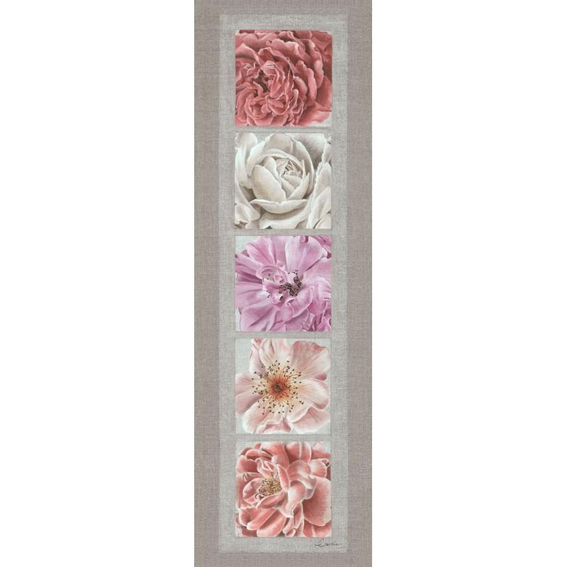 """Tenture murale """"les cinq roses"""""""