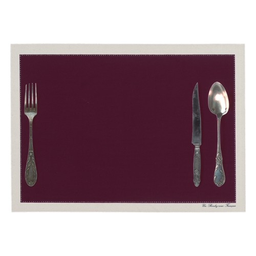 Set de table motif Couverts framboise