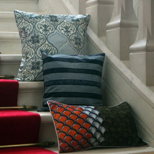 "Cushion cover and its ""Impérial"" pattern"