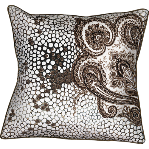 "Cushion cover and its ""Cachemire"" pattern"