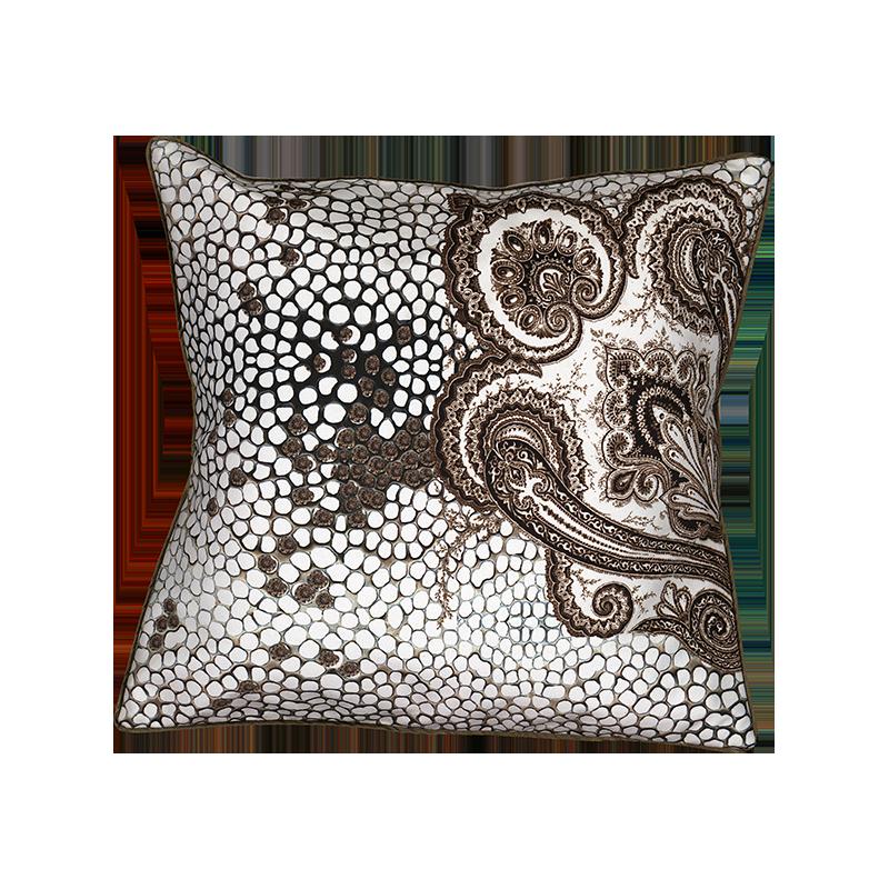 housse de coussin motif cachemire. Black Bedroom Furniture Sets. Home Design Ideas