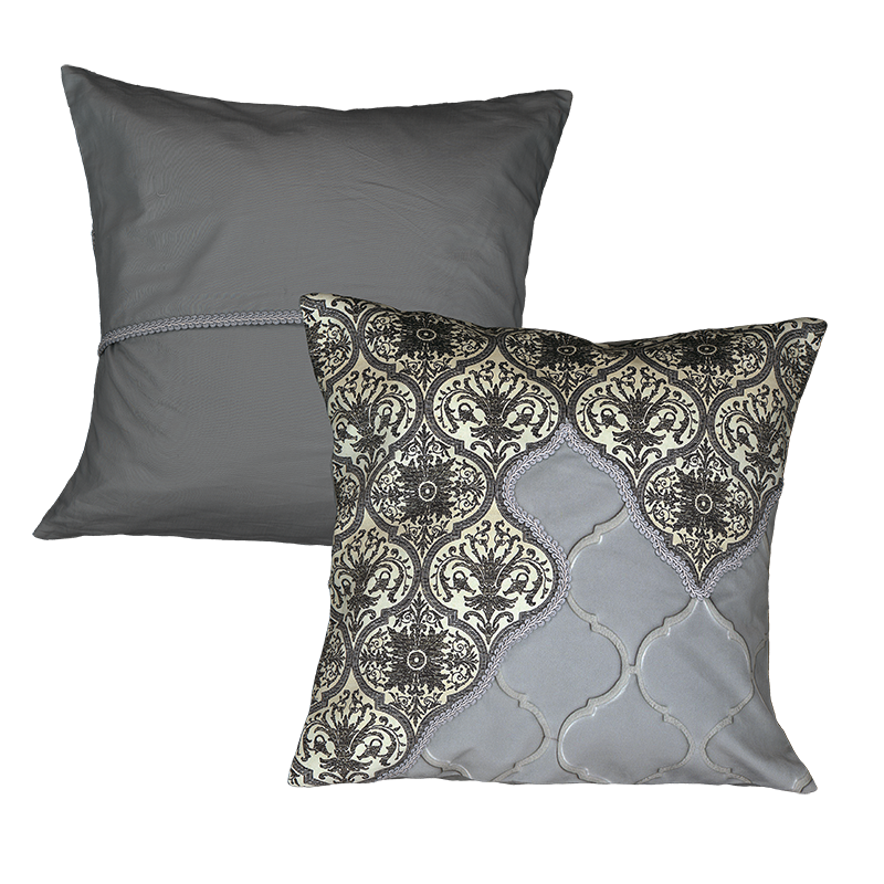 """Cushion cover and its """"Impérial"""" pattern"""