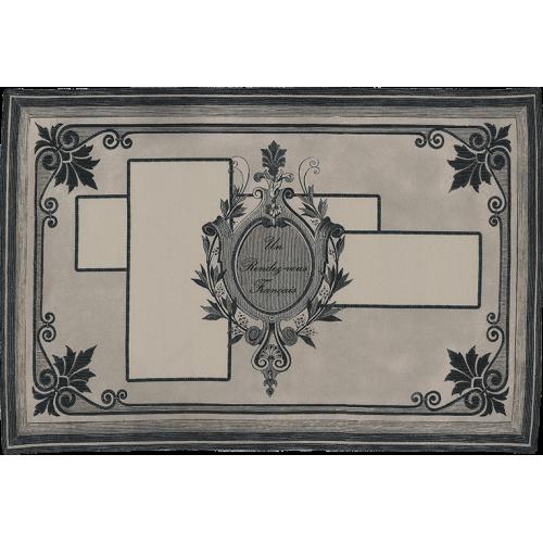 "Bath mat and its ""Gravure"" pattern"