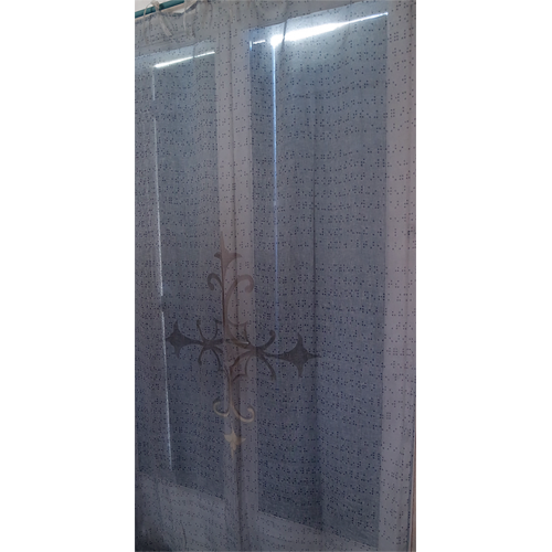 "Curtain and its ""Braille"" pattern"