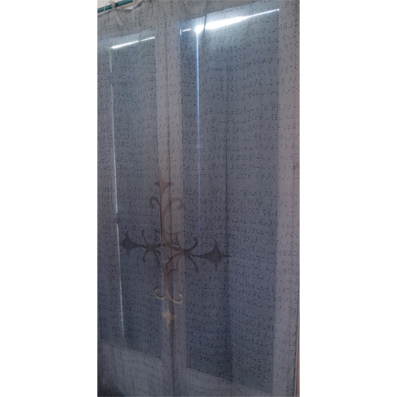 """Curtain and its """"Braille"""" pattern"""