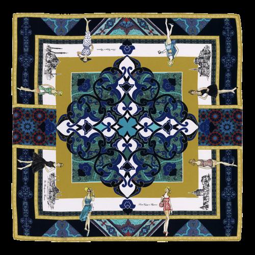 """Carré de soie and its """"Voyage à Byzance"""" pattern"""