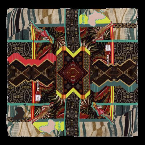 """Carré de soie with its """"Voyage en Afrique"""" pattern"""