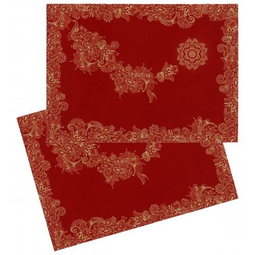 """Lot de 2 sets de table """"Noël"""" rouge"""