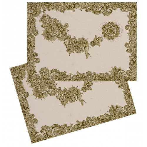 "Pack of 2 place mats ""Noël"" white"