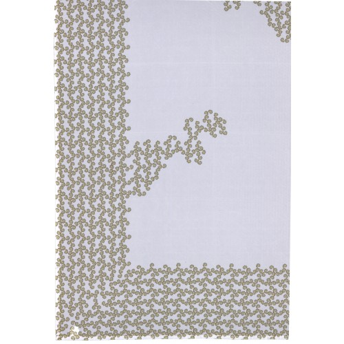 "Tablecloth ""Noël"" white and gold"