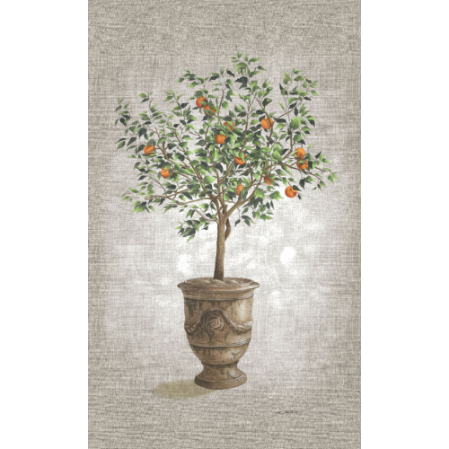 Wall hangings with an orange tree pattern