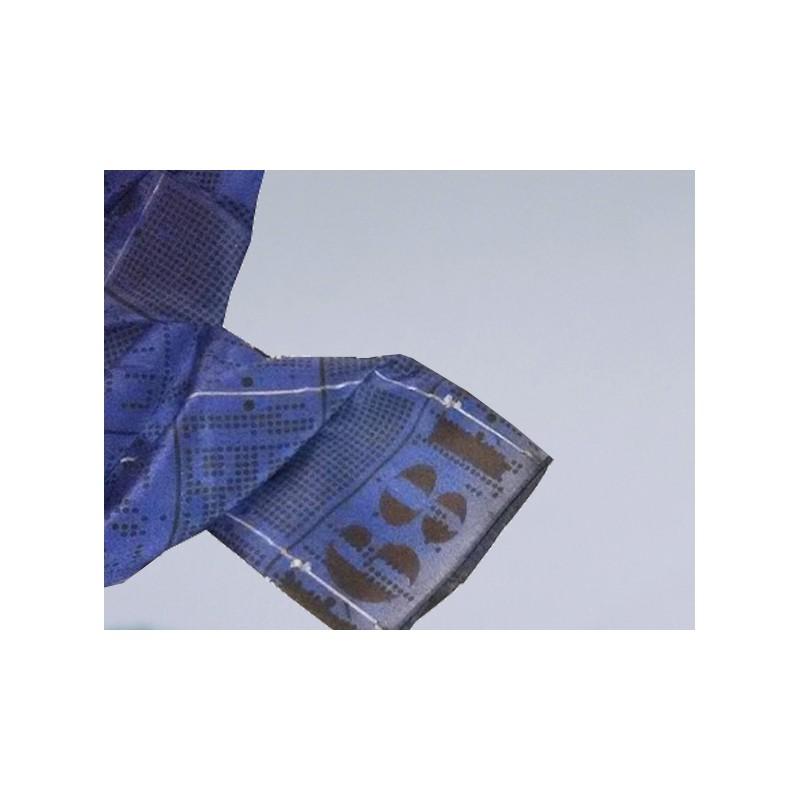 Jacquard Scarf bleu guimet