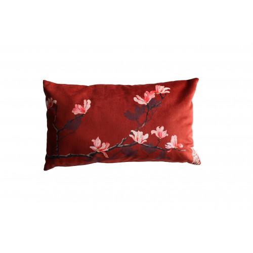 """HOUSSE DE COUSSIN """"Magnolia rose"""" 30x50 cm"""