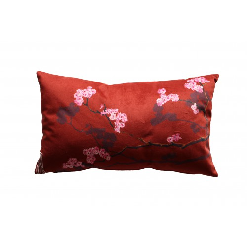 "HOUSSE DE COUSSIN ""Sakura rose"" 30x50 cm"