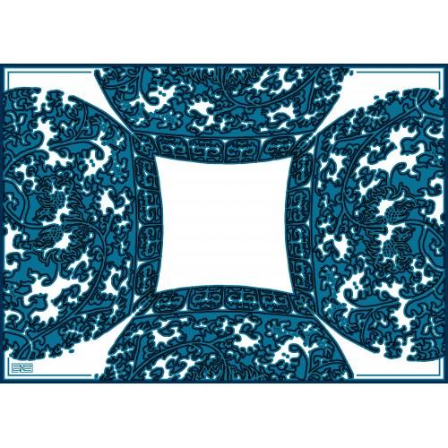 TAPIS Bleu-Blanc
