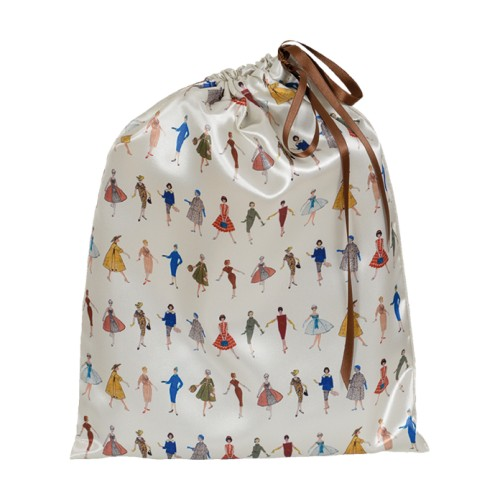 "Lingerie bag with its ""silhouettes"" pattern"
