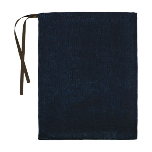 Lingerie bag with its blue velvet pattern