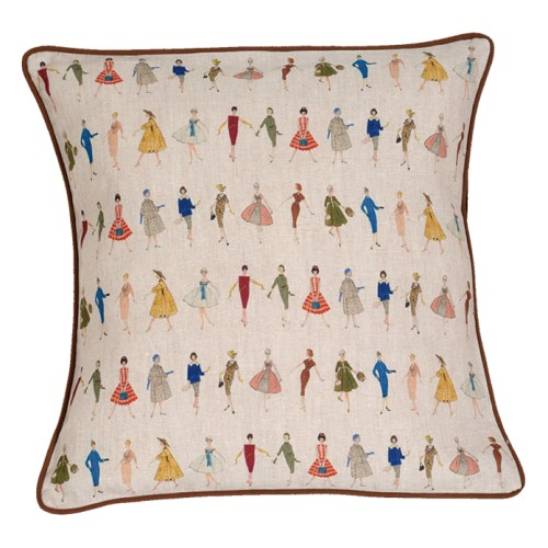 Cushion with a shapes pattern