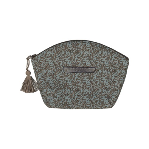makeup bag with a small flowers pattern