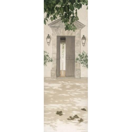 tenture murale imprim e motif porte d 39 entr e. Black Bedroom Furniture Sets. Home Design Ideas