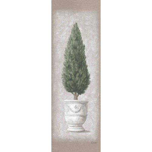Wall hangings with a cypress in a pot pattern