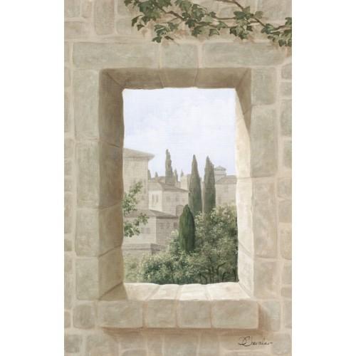"""Tenture murale """"Toscane petites fenêtres"""" côté 1"""