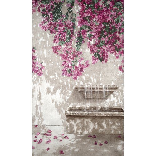 Wall hangings with a bougainvillea pattern