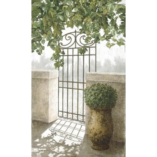 """Tenture murale """"Porte de jardin"""""""