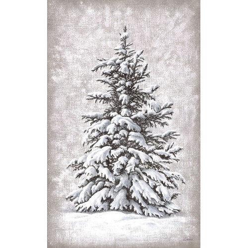 Wall hangings with a snow-covered fir tree pattern
