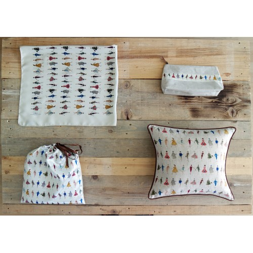 Coussin motif Silhouettes