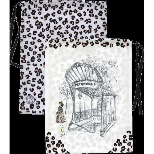 Sac lingerie motif léopard