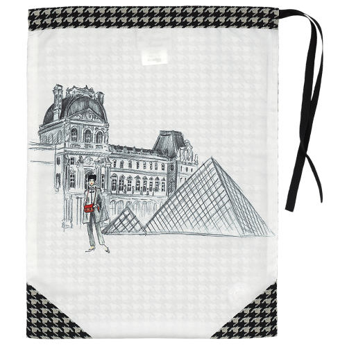 Lingerie bag with its houndstooth pattern