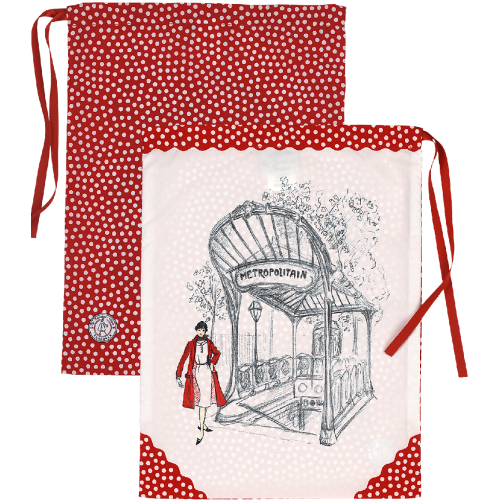 Sac lingerie motif pois rouges