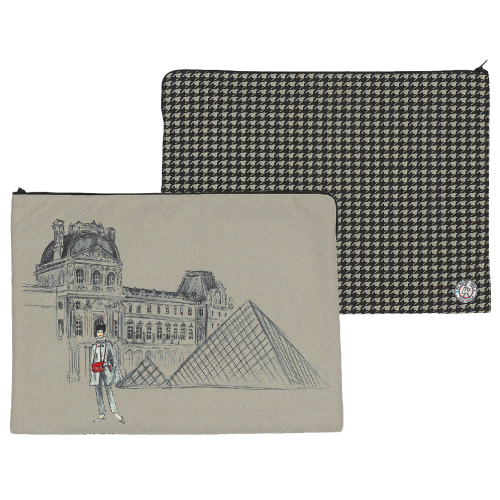 Laptop case with its houndstooth pattern
