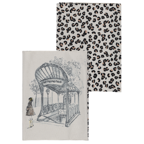 Protège cahier motif léopard