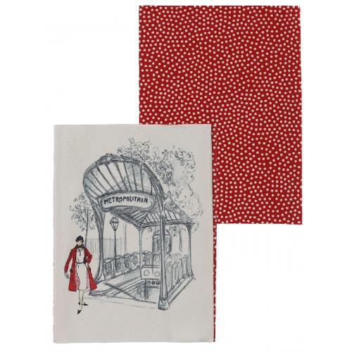 Protège cahier motif pois rouges